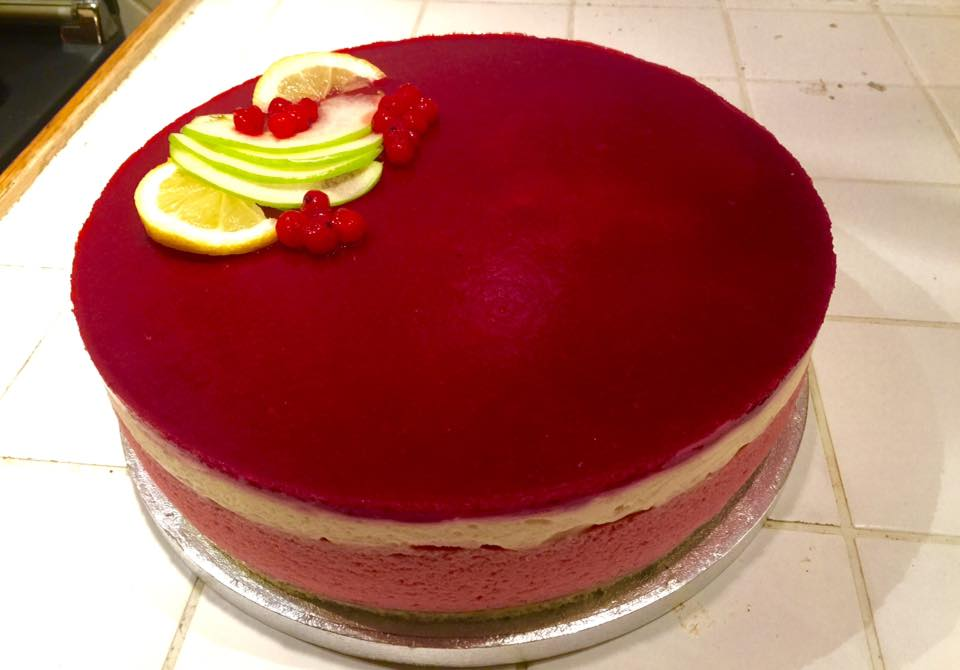 Entremet fruits rouges/chocolat blanc